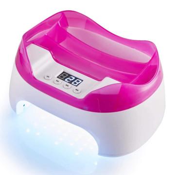 2in1 LED/UV körmös lámpa, eszköztartóval / rózsaszín-fehér (KM-520)