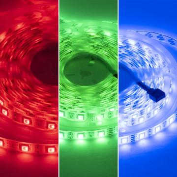 5050 RGB ledszalag, 5 méteres, színváltós, távirányítóval - 60 led/méter (HXY-1250)