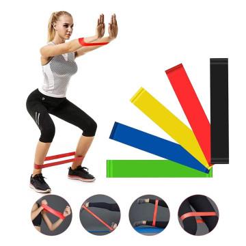 Latex szalag, edzéshez – gumiszalag / 5 féle erősséggel (LT-005)