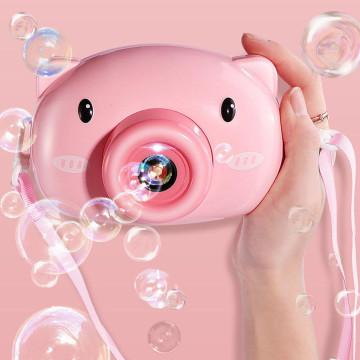 Fényképezőgép formájú, automata buborékfújó / malac