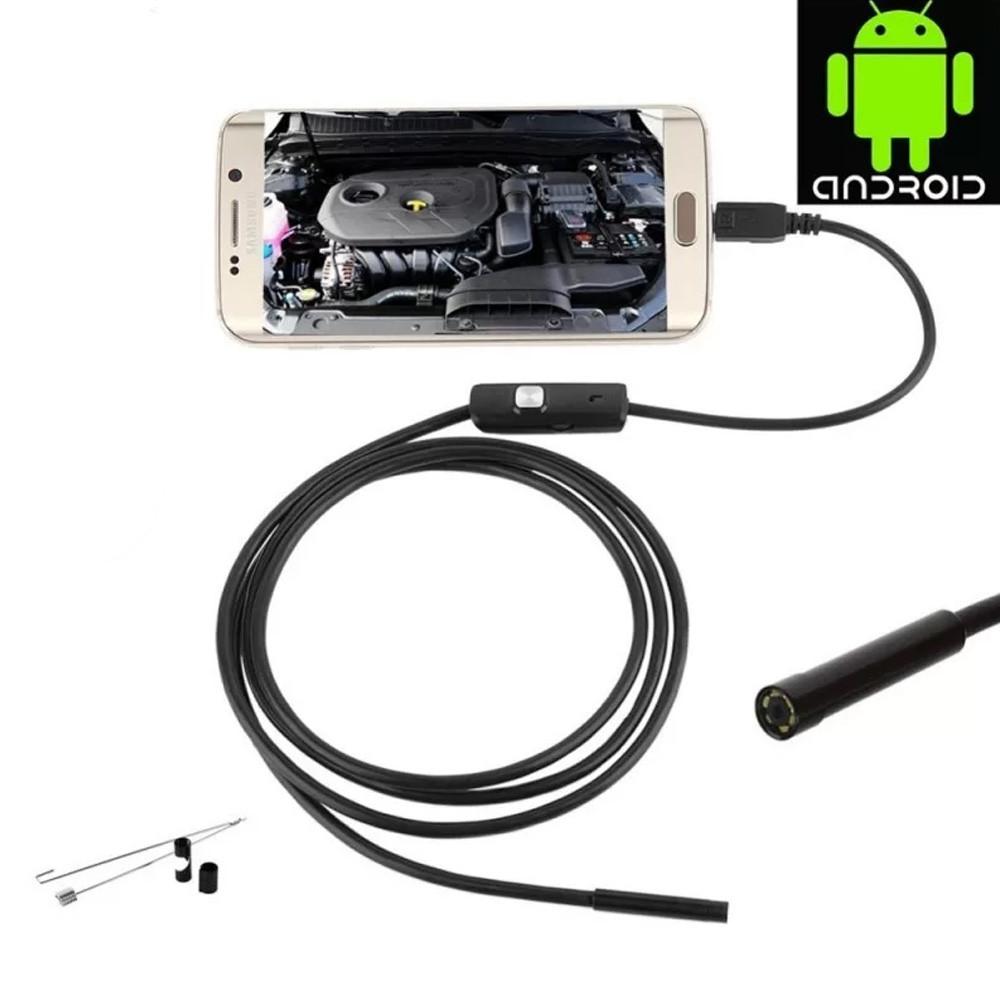 3 az 1-ben vízálló endoszkópos kamera - USB-C + Micro USB + USB / 10 méteres