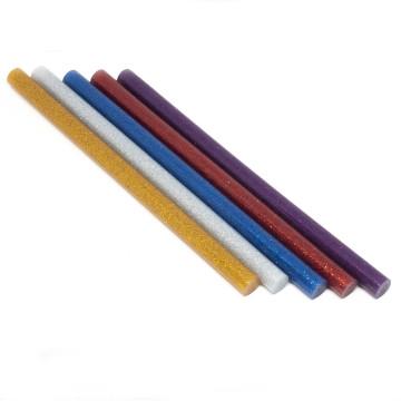 Ragasztópisztoly patron vastag 11x200 mm / színes-csillámos, 5db