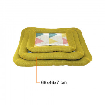 Kényelmes fekhely – kutyapárna / sárga 68x46x7 cm