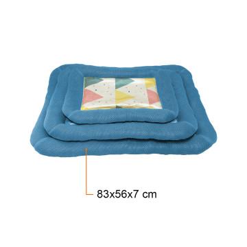Kényelmes fekhely – kutyapárna / kék 83x56x7 cm