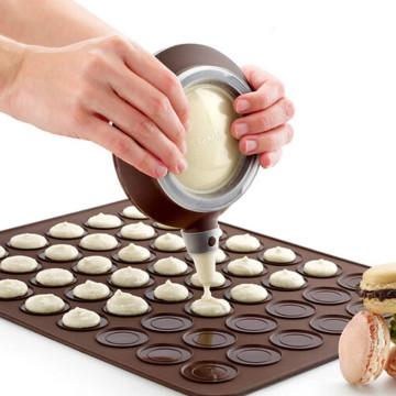 Macaron készítő szett / szilikon forma adagolóval