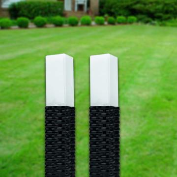 2 db solar rattan kerti lámpa / leszúrható