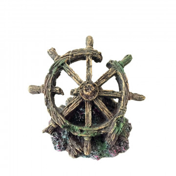 Akvárium dekoráció – Hajókormány (BPS-6585)