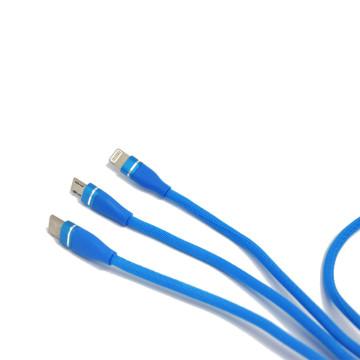 3 az 1-ben multifunkcionális gyorstöltő – 120 cm / Micro, Lighting, Type-c