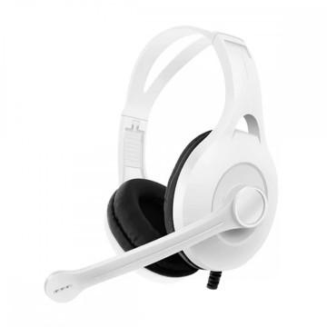 Gamer fejhallgató mikrofonnal / Headset 7.1 Stereo hangzással, játékhoz - fehér (GM041)