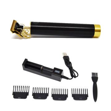 Professzionális vezeték nélküli T-pengés hajnyíró gép – akkumulátor töltővel / fekete-arany (DL-1072)