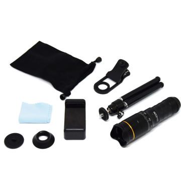 Mobiltelefonra szerelhető távcső készlet állvánnyal - 22X-es nagyítás / monokulár