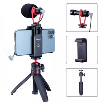 Sairen Q1 professzionális vlog mikrofon szett - vakupapucs adapterrel, mini tripoddal, telefontartóval