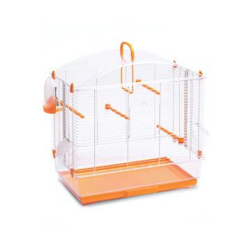 Felakasztható madár kalitka narancssárga színben – etetővel, itatóval (PSM-609176)