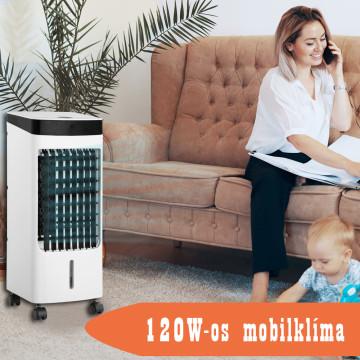120W Air Cooler mobilklíma / léghűtő készülék görg...