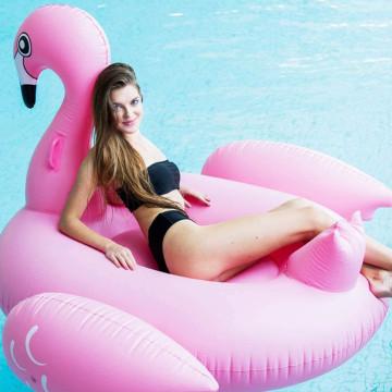 Óriás flamingó gumimatrac / felfújható, 195x200x120 cm