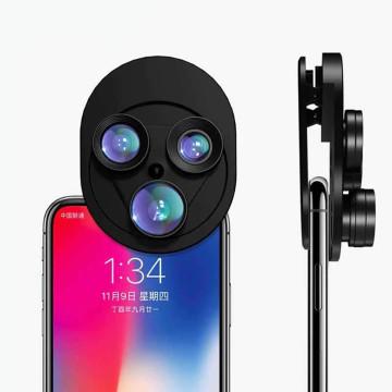 3 az 1-ben kameralencse - telefonra csíptethető / nagy látószög, halszem, makró