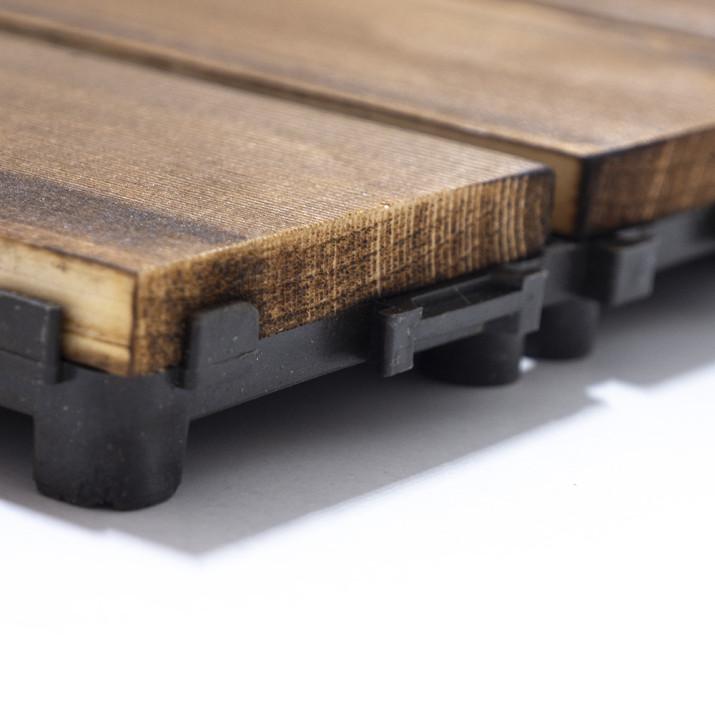 Fenyőfa teraszburkoló lap / kültéri járólap, 30x30 cm, 1 db