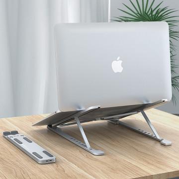 Univerzális laptoptartó állvány - állítható dőlésszöggel / szürke