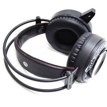 Gamer headset LED-fényekkel / vezetékes fejhallgató mikrofonnal (AS-90)