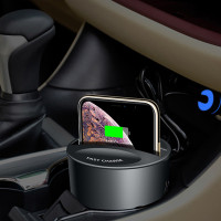 Autós vezeték nélküli telefontöltő és tartó egyben - szivargyújtós csatlakozás / USB és Type-C bemenet