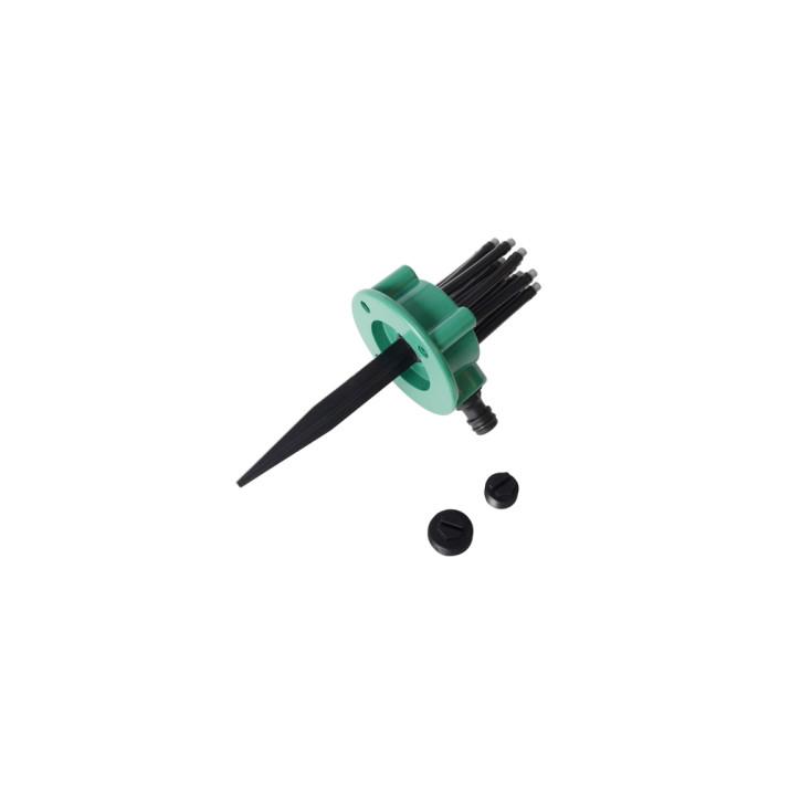 Flexibilis szökőkút szórófej leszúró tüskével / locsoló