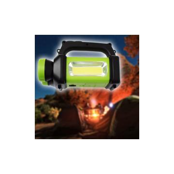 Multifunkcionális tölthető LED kempinglámpa / kézilámpa változtatható színhőmérséklettel