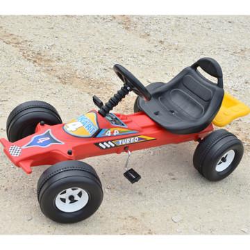 Pedálos sportkocsi gyermekeknek, kormánykerékkel – 115 cm hosszú gokart