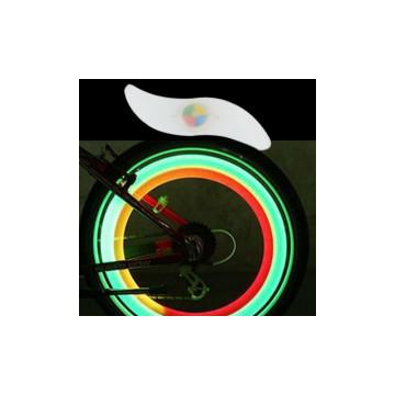Multicolor LED küllővilágítás / macskaszem kerékpá...