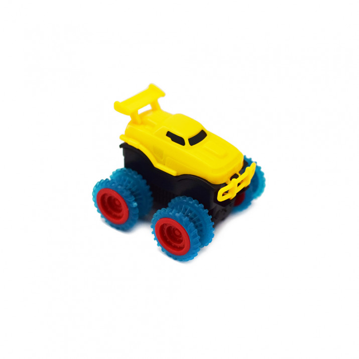 Trükkös autópálya összerakható akadályokkal és 2 különleges játékautóval