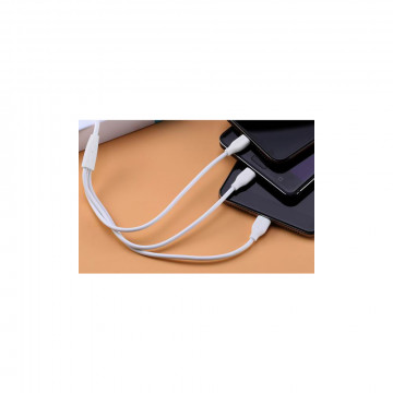 3 az 1-ben gyorstöltő USB adatkábel - Micro USB, USB C és Lightning csatlakozóval / megtörhetetle...
