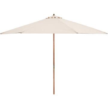 Favázas fehér színű napernyő