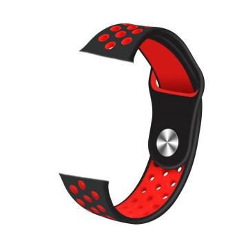 Szíj Safako SWP10 okosórához piros-fekete színben