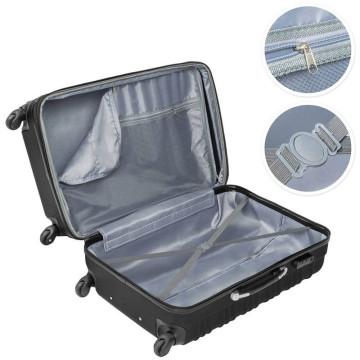 Merev falú bőrönd szett, 4 db-os, szürke