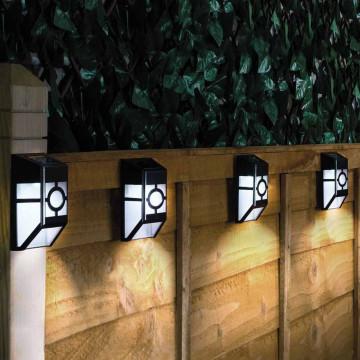 Kültéri fekete szolár lámpa, 4 db