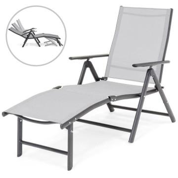 Comfort napozóágy, dönthető háttámlával és állítható lábtartóval