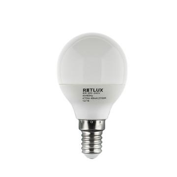 Retlux RLL 268 G45 E14 miniG 6W WW LED izzó (meleg fehér 2700K)