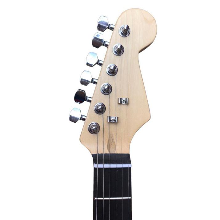 Elektronikus gitár szett kezdőknek, ajándék hangfallal, fekete-fehér