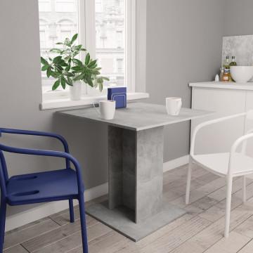 Betonszürke forgácslap étkezőasztal 80 x 80 x 75 cm - utánvéttel vagy ingyenes szállítással