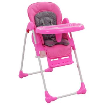 Rózsaszín és szürke babaetetőszék - ingyenes szállítás