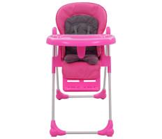 Rózsaszín és szürke babaetetőszék - utánvéttel vagy ingyenes szállítással