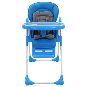 Kék és szürke babaetetőszék - ingyenes szállítás