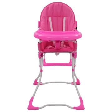 Rózsaszín és fehér babaetetőszék - ingyenes szállítás