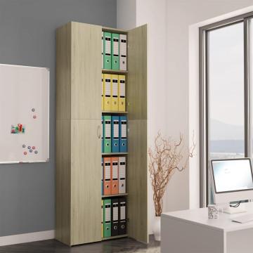 Sonoma tölgy színű forgácslap irodai szekrény 60 x 32 x 190 cm - ingyenes szállítás