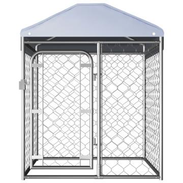 Kültéri kutyakennel tetővel 100 x 100 x 125 cm - ingyenes szállítás
