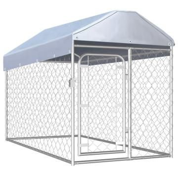 Kültéri kutyakennel tetővel 200 x 100 x 125 cm - u...