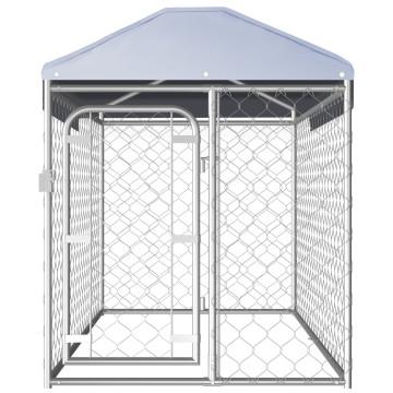 Kültéri kutyakennel tetővel 200 x 100 x 125 cm - ingyenes szállítás