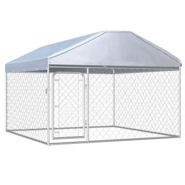 Kültéri kutyakennel tetővel 200 x 200 x 135 cm - ingyenes szállítás