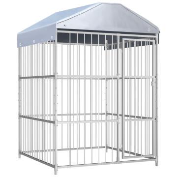 Kültéri kutyakennel tetővel 150 x 150 x 200 cm - ingyenes szállítás