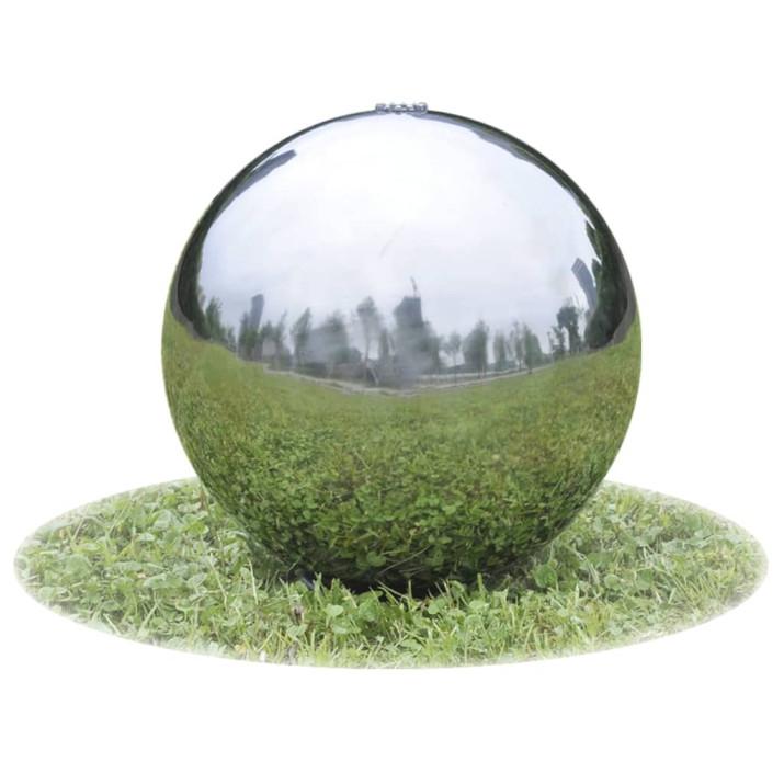 3 db kerti gömb alakú rozsdamentes acél szökőkút LED-fényekkel - utánvéttel vagy ingyenes szállítással