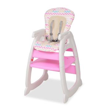 3 az 1-ben, átalakítható, rózsaszín etetőszék asztallal - ingyenes szállítás